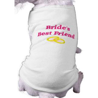 花嫁で親友 犬用袖なしタンクトップ