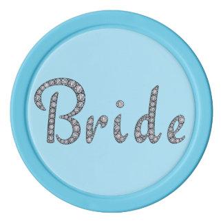 花嫁のきらきら光るなポーカー用のチップ ポーカーチップセット