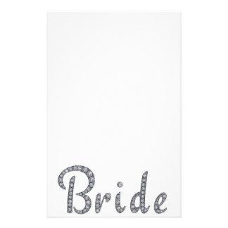 花嫁のきらきら光るな文房具 便箋