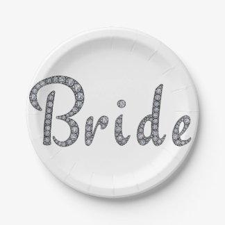 花嫁のきらきら光るな紙皿 ペーパープレート