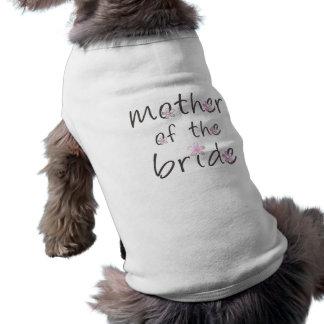 花嫁のギフトの花弁のピンクの母 犬用袖なしタンクトップ