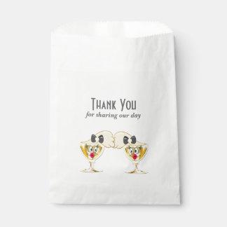 花嫁のシャンペンのトースト、レズビアンの結婚式 フェイバーバッグ