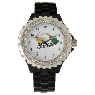 花嫁のシャンペンのトースト 腕時計