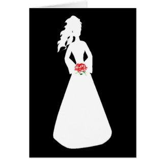 花嫁のシルエットII グリーティングカード