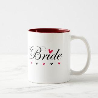 花嫁のハート ツートーンマグカップ