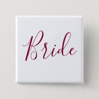 花嫁のバーガンディのフォント 缶バッジ