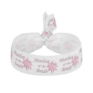 花嫁のピンクの母 ヘアタイ