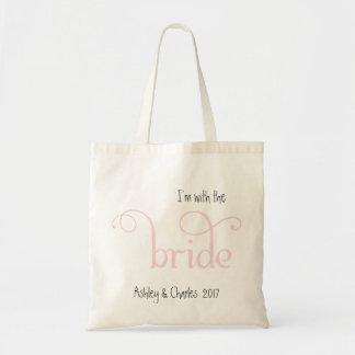 花嫁のピンクの結婚式のトートバックを使って トートバッグ