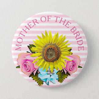 花嫁のブライダルシャワーボタンの母 7.6CM 丸型バッジ