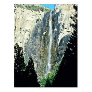 花嫁のベールの滝-ヨセミテ国立公園 ポストカード