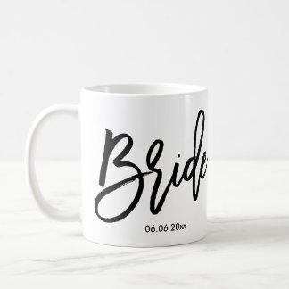 花嫁のマグは結婚式の日付を加えます コーヒーマグカップ