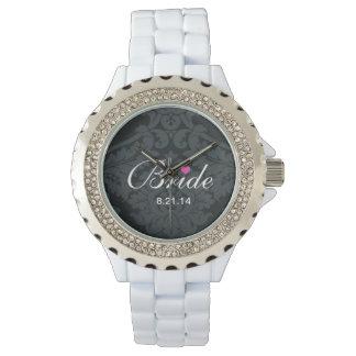 花嫁のラインストーンの腕時計 腕時計