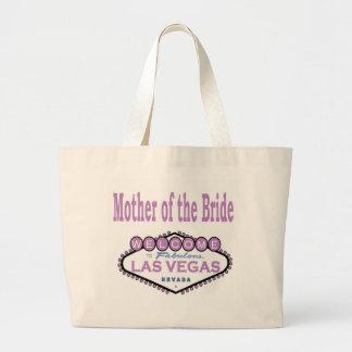 花嫁のラベンダーのクラシックなバッグのラスベガスの母 ラージトートバッグ