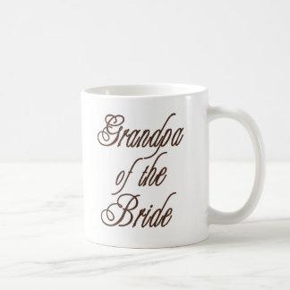 花嫁の上品な茶色の祖父 コーヒーマグカップ