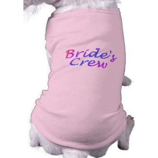花嫁の乗組員(パステル調) 犬用袖なしタンクトップ