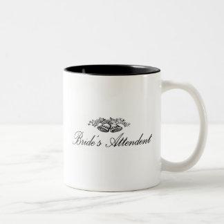 花嫁の付き添い人のマグ ツートーンマグカップ