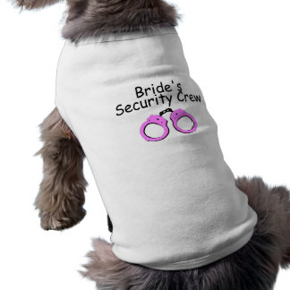 花嫁の保証乗組員(手錠) 犬用袖なしタンクトップ