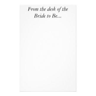 花嫁の個人的でカスタムな手紙の結婚式の文房具 便箋