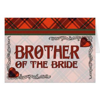 花嫁の兄弟-招待状- Wemyssのタータンチェック カード