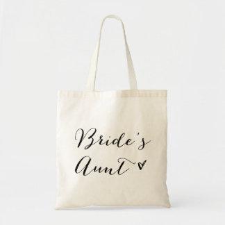 花嫁の叔母さん のモダンな書道のトートバック トートバッグ