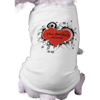 花嫁の叔母さん 犬用袖なしタンクトップ
