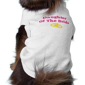 花嫁の娘 犬用袖なしタンクトップ