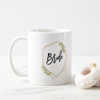 花嫁の幾何学的なマグ コーヒーマグカップ