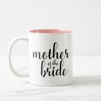 花嫁の書道の母、花嫁のマグ ツートーンマグカップ