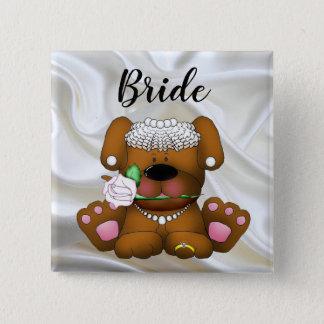 花嫁の正方形ボタン 5.1CM 正方形バッジ