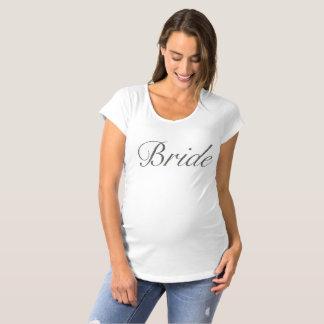花嫁の母性のTシャツ マタニティTシャツ