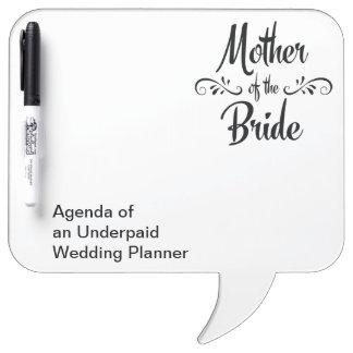 花嫁の母-おもしろいなリハーサルの夕食 ホワイトボード