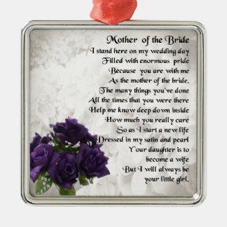 花嫁の母-紫色のバラ メタルオーナメント