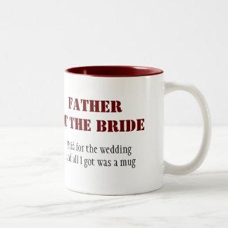 花嫁の父 ツートーンマグカップ