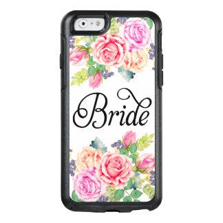 花嫁の花のバラの水彩画のモダンの空想の原稿 オッターボックスiPhone 6/6Sケース