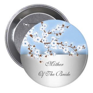 花嫁の花の桜の母 7.6CM 丸型バッジ