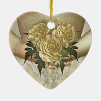 花嫁の花束(アイボリー)の結婚式 セラミックオーナメント
