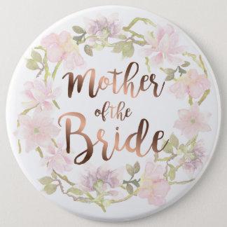 花嫁の花柄ボタンの母 缶バッジ