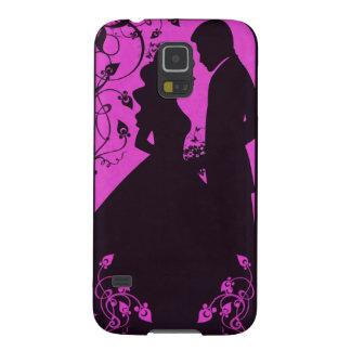 花嫁の花柄-ピンク GALAXY S5 ケース