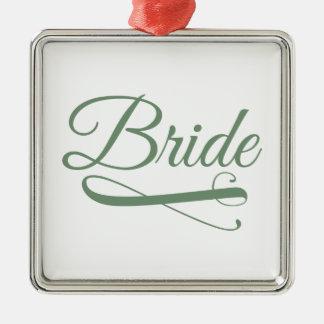 花嫁の華麗さの緑 メタルオーナメント