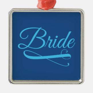 花嫁の華麗さの青 メタルオーナメント