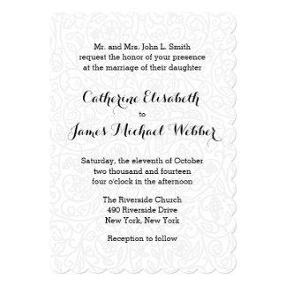 花嫁の親によって催される結婚式招待状 カード