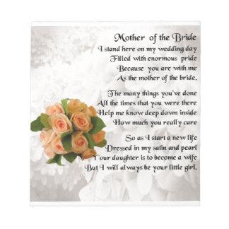花嫁の詩の母-モモのバラ ノートパッド