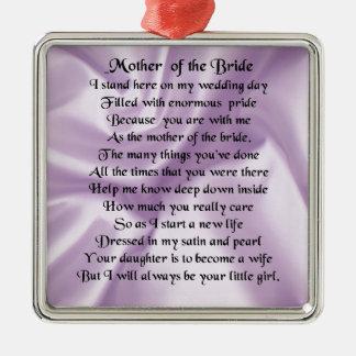 花嫁の詩の母-薄紫の絹のデザイン メタルオーナメント