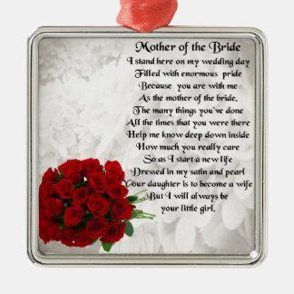花嫁の詩の母-赤いバラ メタルオーナメント