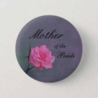 花嫁ボタンの静かにピンクのバラの母 缶バッジ