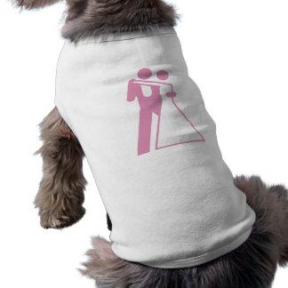 花嫁及び新郎のための国際的な印 犬用袖なしタンクトップ