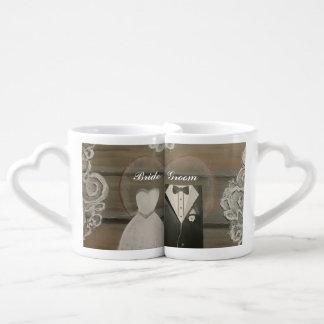 花嫁及び新郎の恋人のコーヒー・マグセット ペアカップ
