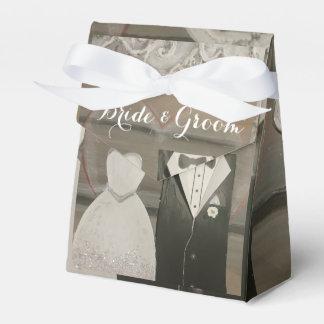 花嫁及び新郎の結婚式のテントの好意箱 フェイバーボックス