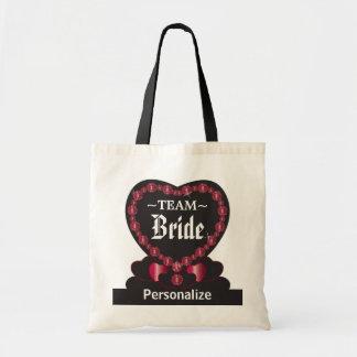 花嫁|のルビー色の赤|Wedding | DIYの文字を団結して下さい トートバッグ