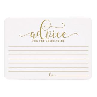 花嫁|の金ゴールド及びピンクの書道のためのアドバイス 12.7 X 17.8 インビテーションカード